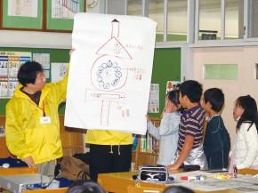 ユニバーサルデザイン出前授業の風景